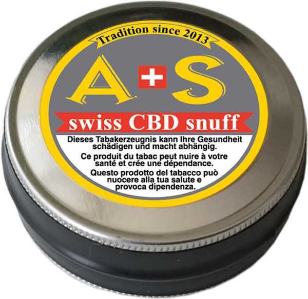 A+S swiss CBD snuff - Schnupftabak