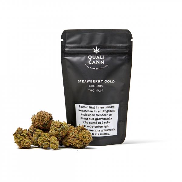 Qualicann Strawberry Gold CBD - 22% mehr Inhalt